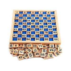 Puzzle de matemáticas de madera para niños Montessori