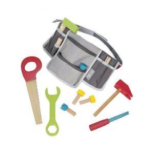 cinturón de herramientas de bricolaje en madera de Roba