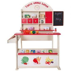 Tienda de verduras de juguete en madera de la marca Roba Kids