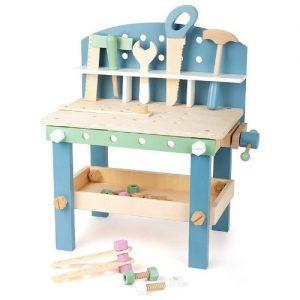 banco de bricolaje infantil con herramientas de madera para niños de la marca Small Foot Company