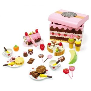 Caja de dulces en madera Small Foot Company. Dulces, tartas y postres en madera de juguete