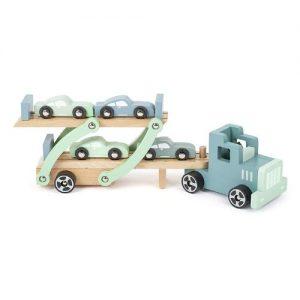 Camión portacoches de madera de la marca Small Foot Company