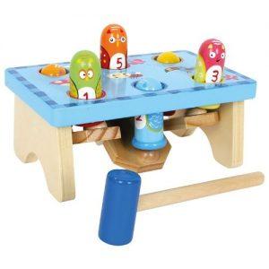 Juego de mesa para niños pequeños de golpea el pájaro de Small Foot Company