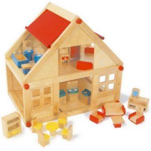Casita de muñecas de madera para jugar Small Foot Company