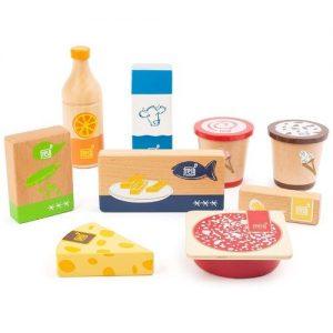 Alimentos de madera refrigerados para jugar. Comida de juguete en madera Small Foot Company