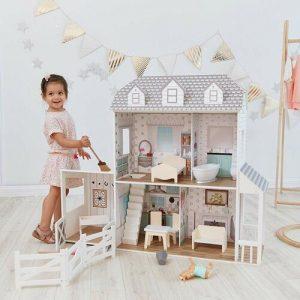 casa de muñecas de madera infantil Teamson kids