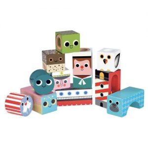 bloques y cubos de madera para jugar con sonidos de mar de la marca Vilac