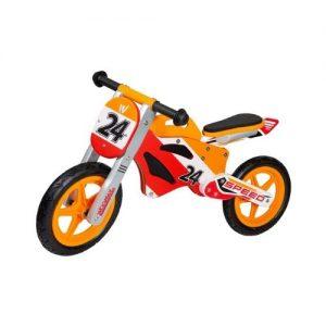 bicicleta de madera infantil de estilo de carreras