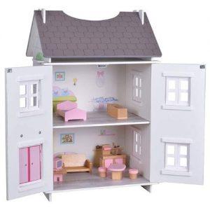Woomax. Casa de muñecas de madera de tamaño mediano