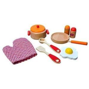 Set utensilios de cocina en madera ecológicos