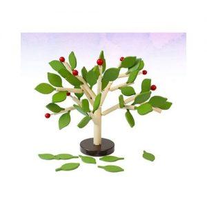 Árbol de madera de juguete. Juguete ecológico de equilibrio y construcción infantil