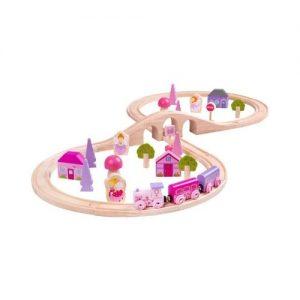 Tren de madera con hadas de juguete de Bigjigs. Juguetes ecológicos