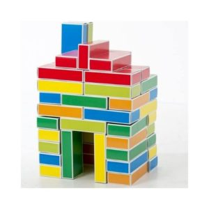 Ladrillos bloques de cartón para construir de Buntbox. Juguete ecológico