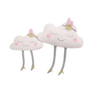 Cojín infantil con forma de nube en felpa. Producto ecológico infantil