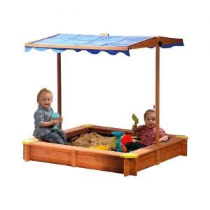 Arenero de madera infantil