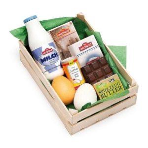 Caja de alimentos de madera de juguete de Erzi