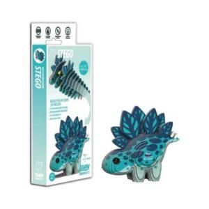 Puzzle 3D de dinosaurios en cartón ecológico de Eugy. Puzle de tiranosaurio