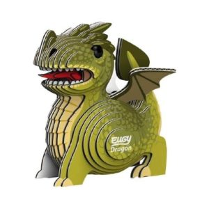 Puzzle 3D de dragón en cartón ecológico de Eugy