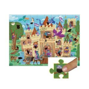 Puzzle mágico de cartón ecológico de Galt Toys con temática de castillo.