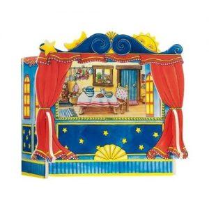Teatro de marionetas de madera para niños de Goki