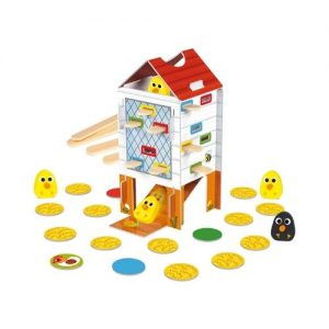 Juguete ecológico de mesa de Goula. Happy Chicken