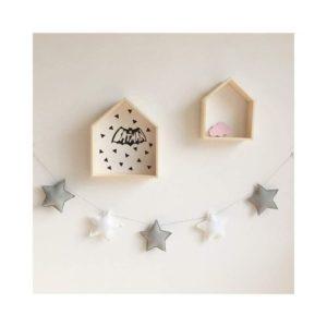 Guirnalda decorativa infantil de estrellas de tela ecológica