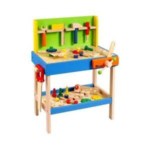 Banco de herramientas de juguete en madera de Howa. Juguete ecológico