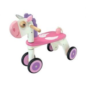 Unicornio correpasillos en madera infantil. Juguetes ecológicos
