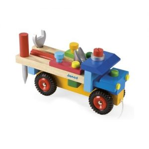 Juego ecológico de construcción en madera. Camión de bricolaje