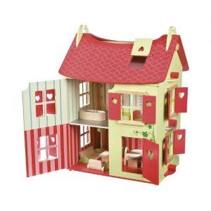 Casas de muñecas de madera infantil de Janod. Juego ecológico