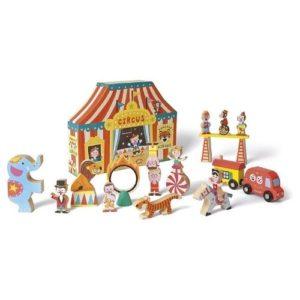 Set de circo en madera de Janod. Juguete respetuoso con el medio ambiente