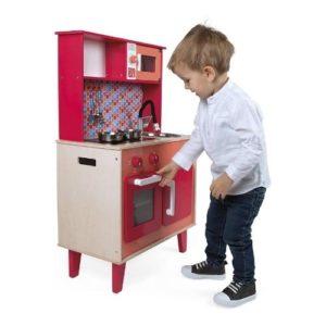 Cocina vintage de juguete fabricada en madera ecológica de Janod
