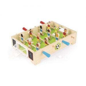 Futbolín de mesa pequeños para niños de Janod. Juego ecológico