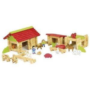 Granja de juguete en madera de Jeujura. Juguete respetuoso con el medio ambiente