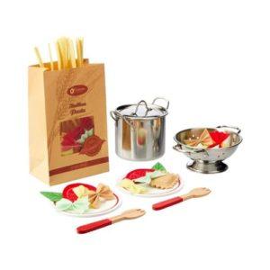 Set de preparar pasta infantil. Alimentos de juguete de tela ecológicos