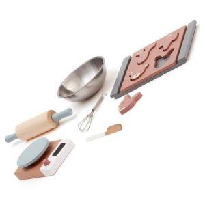 Set de preparar chocolate de Kids Concept en madera y metal. Juguete respetuoso con el medio ambiente