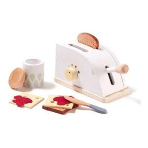 Tostadora con accesorios de madera de Kids Concept. Juguete respetuoso con el medio ambiente
