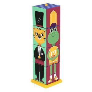 Cubos de apilar en cartón de Krooom. Juguete fabricado con materiales ecológicos