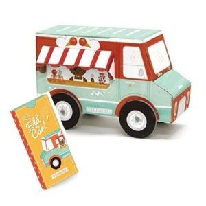 Furgoneta camión de helados para ensamblar de Krooom. Juguete ecológico