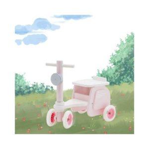 Biciclete rosa de madera de Labebe. Juguete respetuoso con el medio ambiente