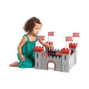 Castillo de madera de juguete