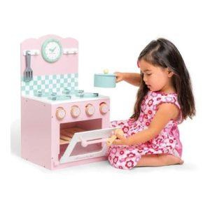Mini cocinita de juguete de color rosa de la marca Le Toy Van. Juguete ecológico