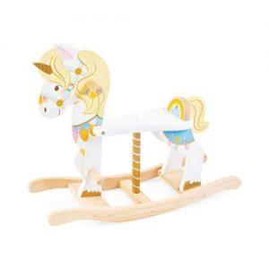 Balancín con forma de unicornio en madera de Le Toy Van