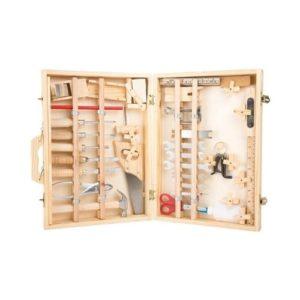 Maletín de herramientas de madera para niños de Legler. Juguetes ecológicos