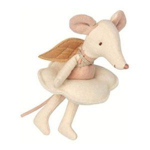 Muñeco de ratoncito `Pérez en tela y lino ecológico de Maileg