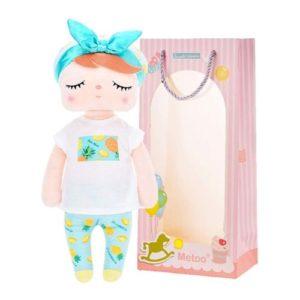 Muñeca de trapo ecológica con bandana en la cabeza de Me Too