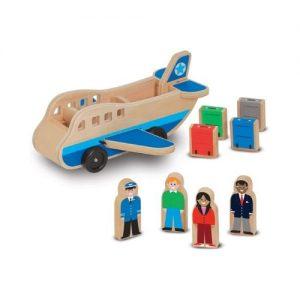 Avión de madera de juguete para niños pequeños de Melissa & Doug. Juguetes ecológicos