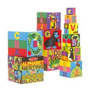 Cubos apilables de cartón de Melissa & Doug. Juguete ecológico