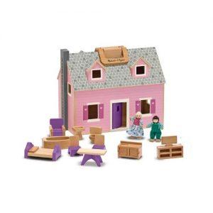 Casas de muñecas de madera en color rosa de Melissa & Doug