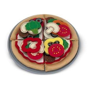 Pizza de juguete de Melissa & Doug. Alimentos de tela ecológicos